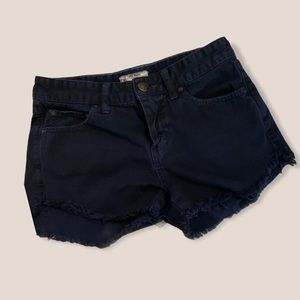 Size 25 Free People Navy Blue Festival Shorts